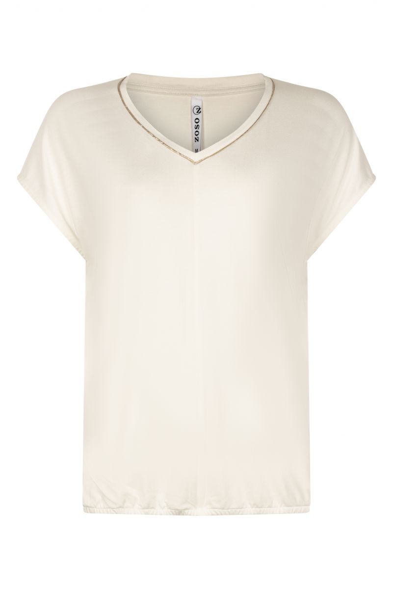 Zoso 211 Nancy Top off white