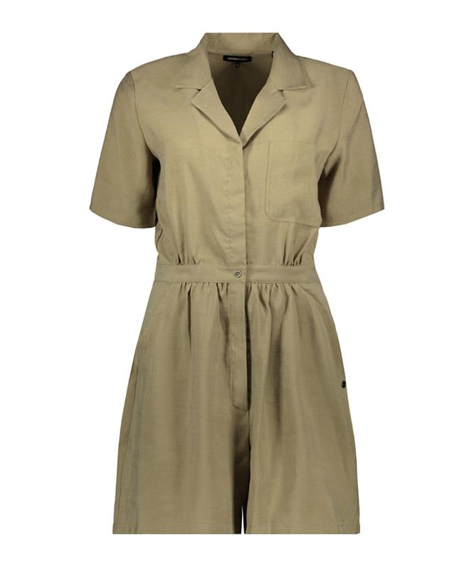 Superdry Playsuit wide leg Moss Khaki