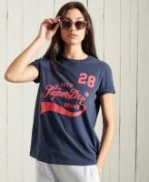 Superdry Collegiate Cali State Tee Nautical Navy